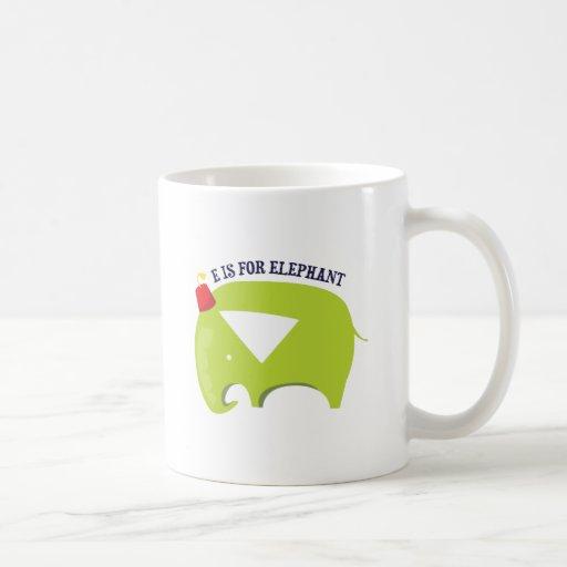 E For Elephant Coffee Mug