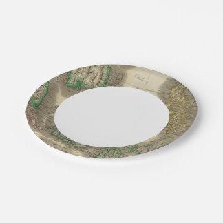 E India Islands Paper Plate
