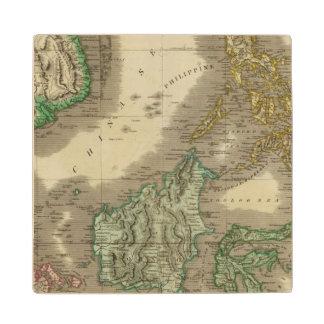 E India Islands Wood Coaster