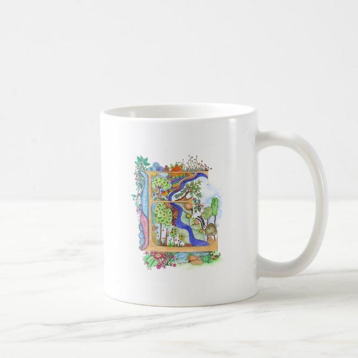 E, initial, monogram, wedding coffee mug