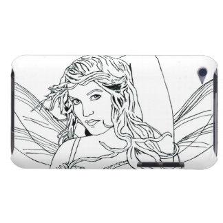 "E iPod Case ""FairyFace Doodle "" #1 iPod Touch Case"