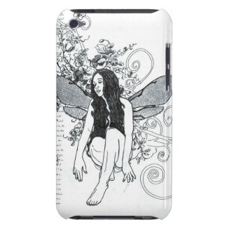 "E iPod Case ""Scroll Fairy""  Doodle Art iPod Touch Covers"
