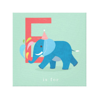 E is for... canvas print