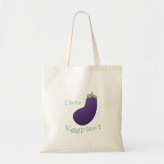 E is for Eggplant Tote Bag