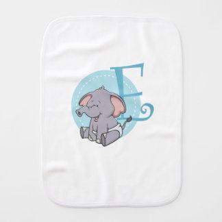 E is for Elephant Burp Cloth