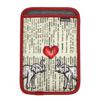 E is for Elephant Dictionary Page (K.Turnbull Art) iPad Mini Sleeve