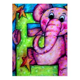 E is for Elephant Postcard