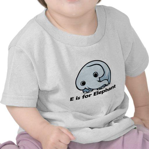 E is for Elephant Tshirt