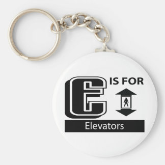E Is For Elevators Key Ring