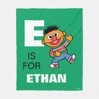 E is for Ernie | Add Your Name Fleece Blanket
