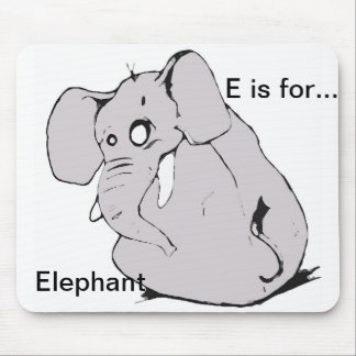 E is for mouse pad