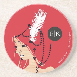 E|K Coaster featuring artist Eliza Frye
