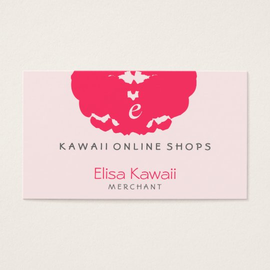 E Kawaii Blot Shops Business Card
