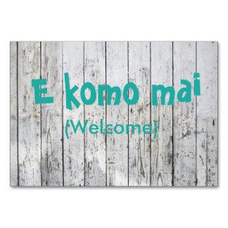 E Komo Mai (Welcome) card