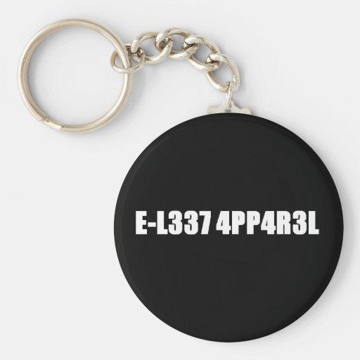 E-L337 4PP4R3L Keychain