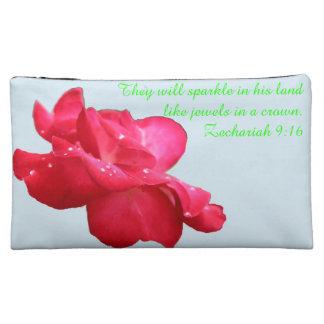 E&L K-O Rose A~Heart Cosmetic Bag