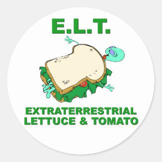 E.L.T. ROUND STICKER