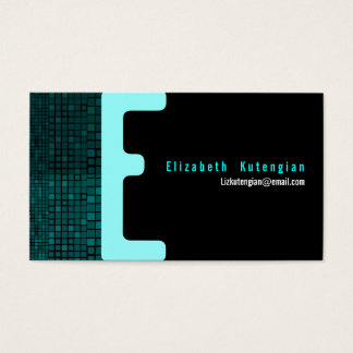 E Letter Alphabet Business Card Mosaic