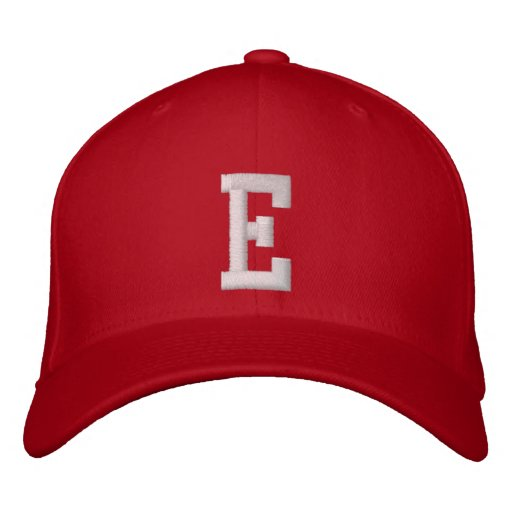 E Letter Embroidered Hat