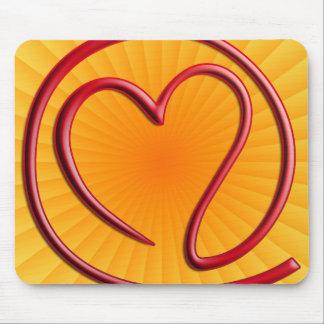 e m a i l 4 y o u | yellow radial mouse pad