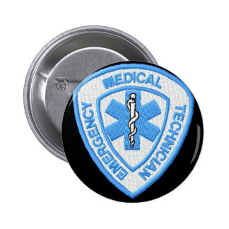 E.M.T. EMERGENCY MEDICAL 6 CM ROUND BADGE