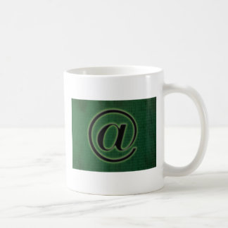 e-mail sign basic white mug