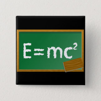E=mc2 15 Cm Square Badge