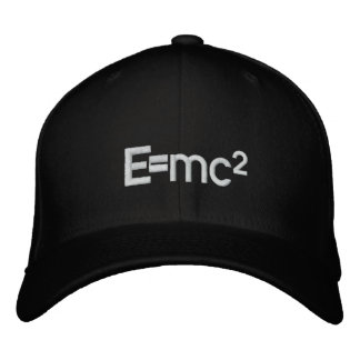 E=mc2   Albert Einstein speed of light squared Embroidered Hat