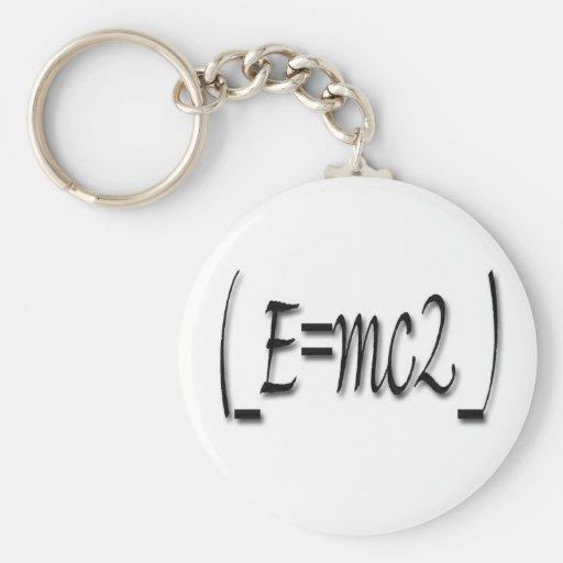 (_E=mc2_) Basic Round Button Key Ring