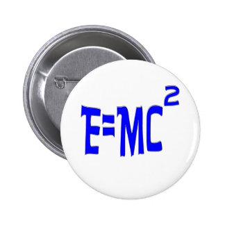 E=MC2 (blue) 6 Cm Round Badge