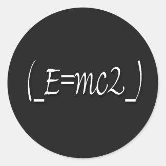 (_E=mc2_) copy Round Sticker