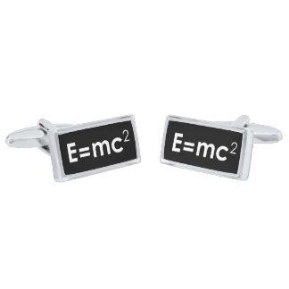 E=mc2 Cuff Links Silver Finish Cuff Links