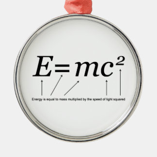 E=MC2 Einstein's Theory of Relativity Christmas Ornament