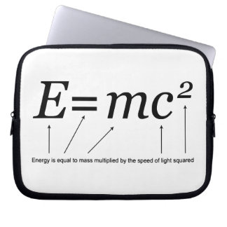 E=MC2 Einstein's Theory of Relativity Laptop Sleeve