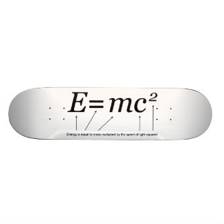 E=MC2 Einstein's Theory of Relativity Skate Decks