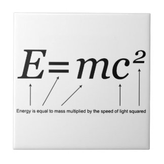 E=MC2 Einstein's Theory of Relativity Tile