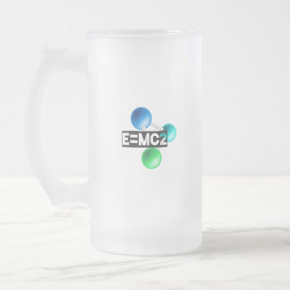 E=mc2 Frosted Glass Beer Mug