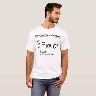 e=mc2: Mass-energy equivalence: science: Einstein T-Shirt