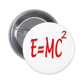 E = MC2 (red) 6 Cm Round Badge