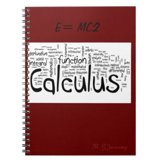 E=MC2 SPIRAL NOTEBOOK