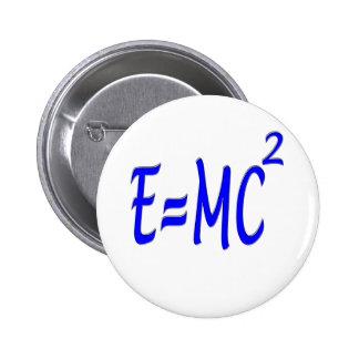 E = MC 2 (blue) 6 Cm Round Badge