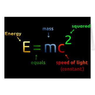 E = MC^2. E equals MC Squared Card
