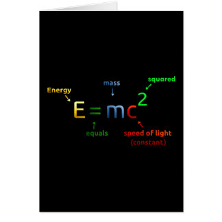 E = MC^2. E equals MC Squared Greeting Card