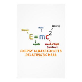 E=mc^2 Energy Always Exhibits Relativistic Mass Customised Stationery