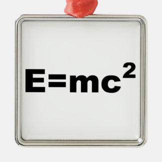 E =MC 2 Silver-Colored SQUARE DECORATION