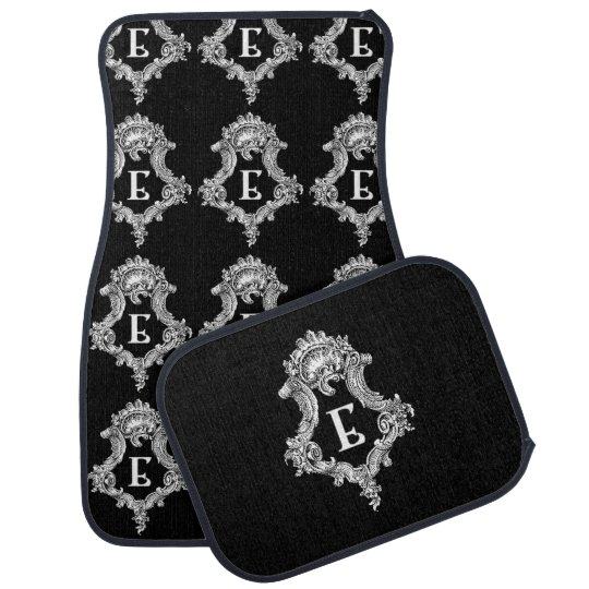 E Monogram Inital Set of Car Mats