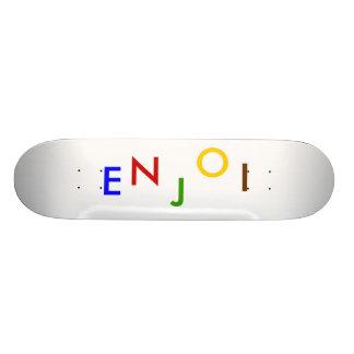 E, N, J, O, I SKATEBOARD DECKS
