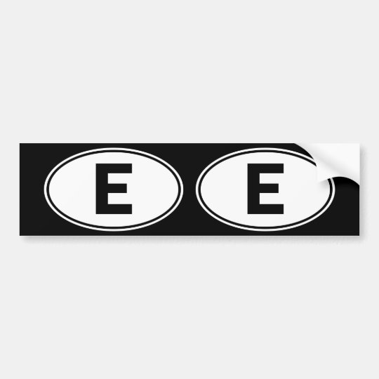 E Oval Identity Sign Bumper Sticker