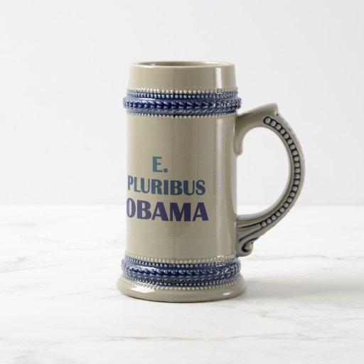 E. Pluribus Obama Coffee Mugs