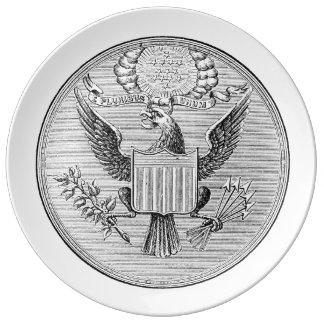E Pluribus Unum White Plate